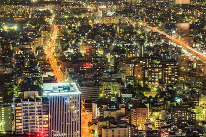 名古屋の高層ビルからの夜景