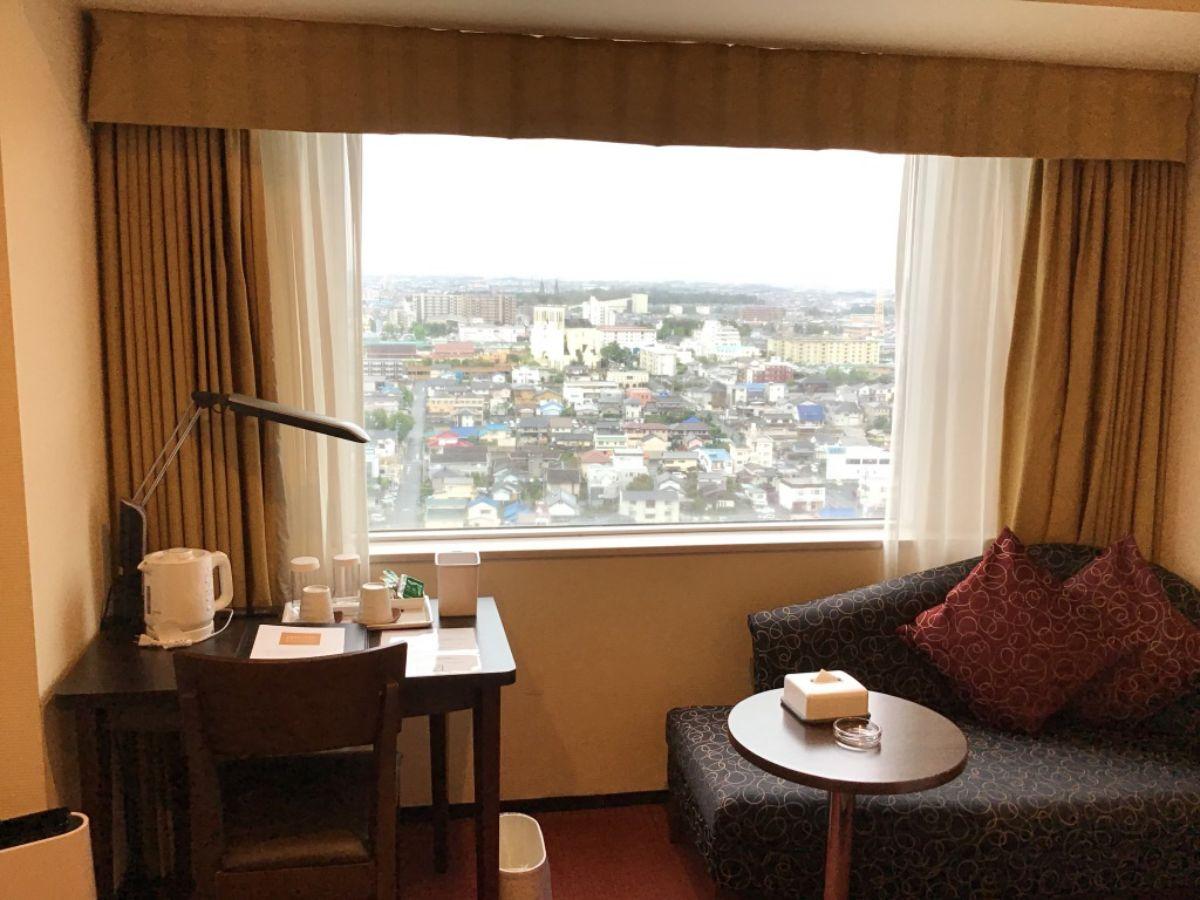 ロワジールホテルの室内